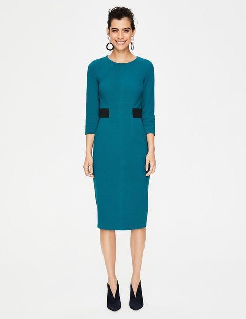 Laura Ottoman Dress - Drummer Blue