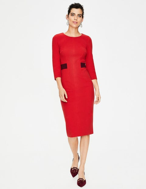 Laura Ottoman Dress - Poinsettia