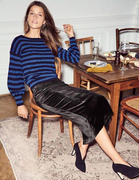 Muriel Sweater - Navy/Blue Stripe