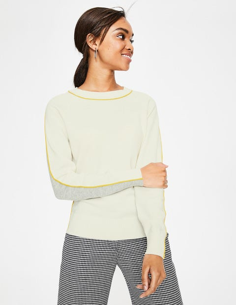Connie Jumper - Ivory/Grey