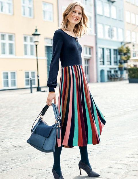 Margie Dress - Multi Stripe