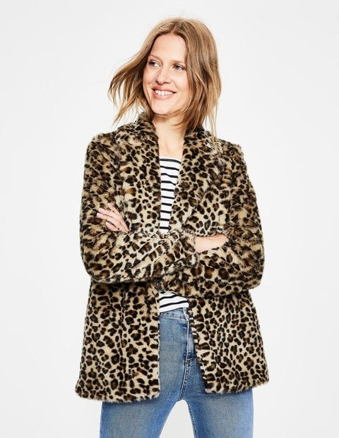 Boxgrove Faux Fur Coat - Leopard Faux Fur