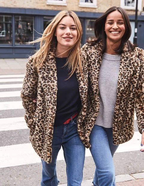 Boxgrove Faux Fur Coat - Leopard Faux Fur