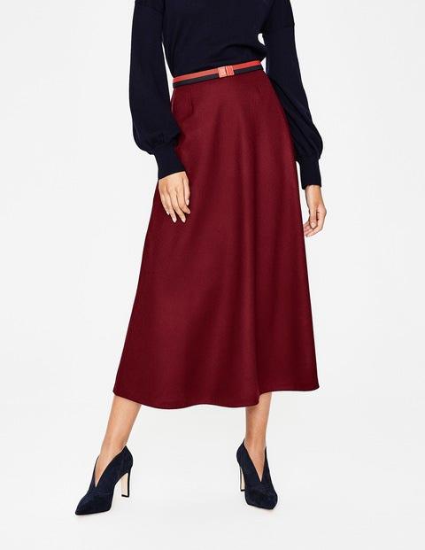 fd9b1d70b8 British Tweed Midi Skirt - Mulled Wine | Boden UK