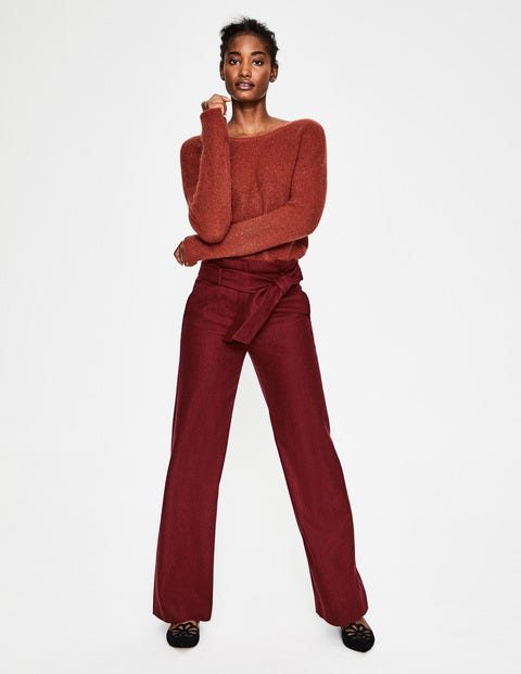 Pantalon Taille Froncée Rosemoor - Marron