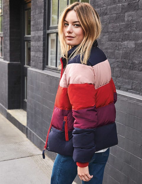 Arundel Puffer Jacket - Colourblock