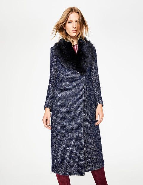 1920s Coats, Flapper Coats, 20s Jackets Burley Coat Navy Women Boden Navy £192.50 AT vintagedancer.com
