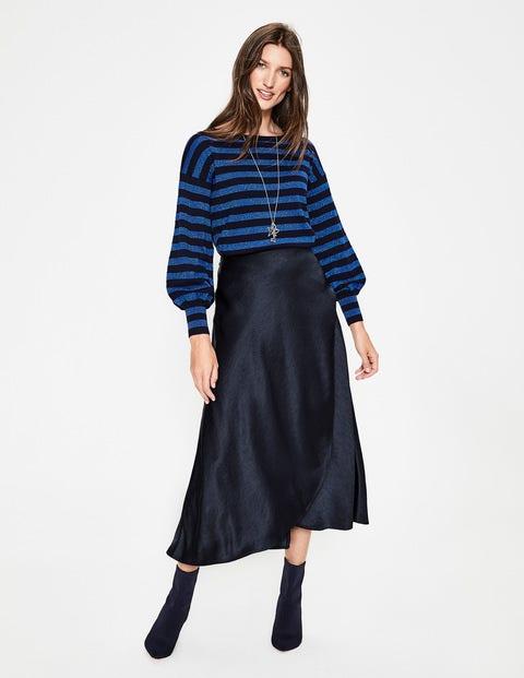 Epsom Midi Skirt - Navy