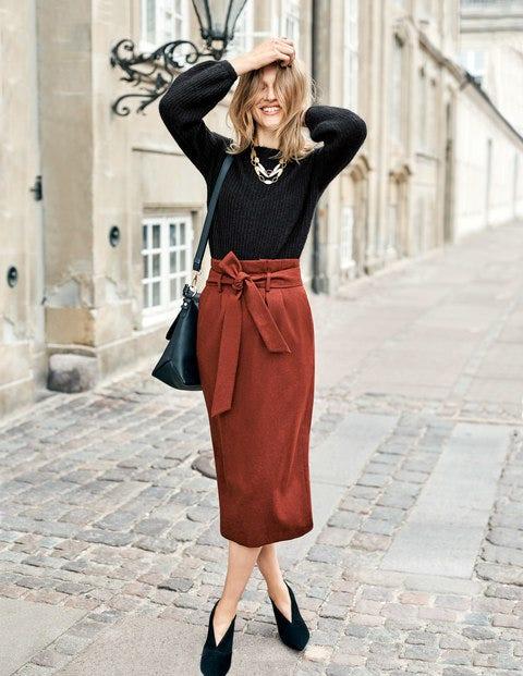 Rosemoor Paperbag Skirt - Conker