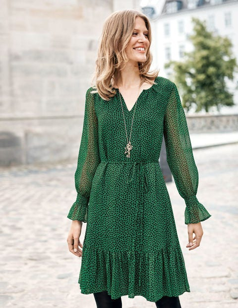 Libby Dress - Amazon Green Petal