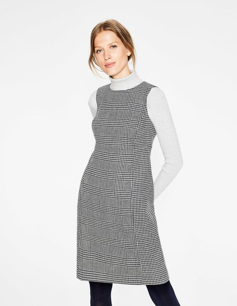 Rosie Tweed Dress - Navy and Ivory Prince of Wales