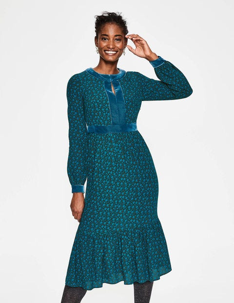 Annabelle Midi Dress - Chatsworth Green, Vine