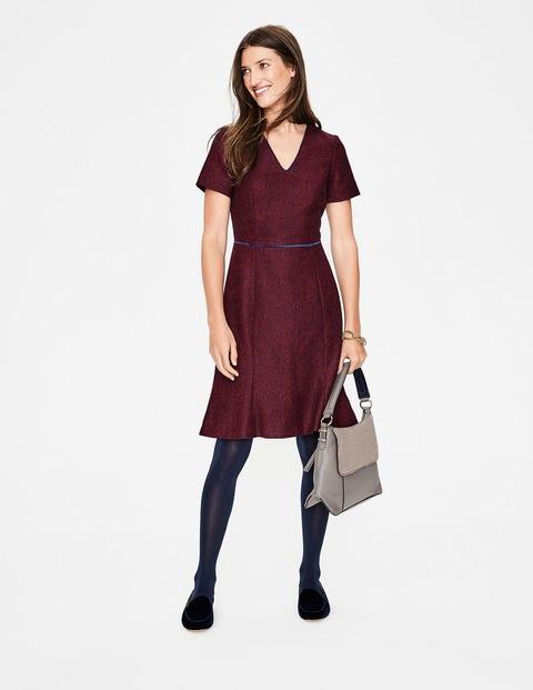 Albany Tweed Dress - Post Box Red Herringbone