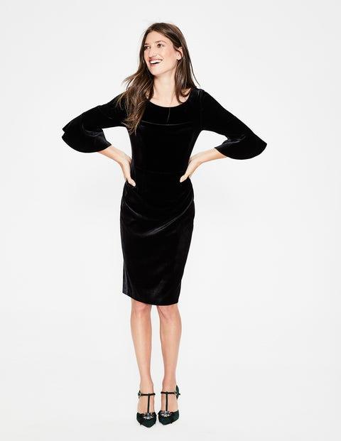 Aubrey Velvet Dress - Black