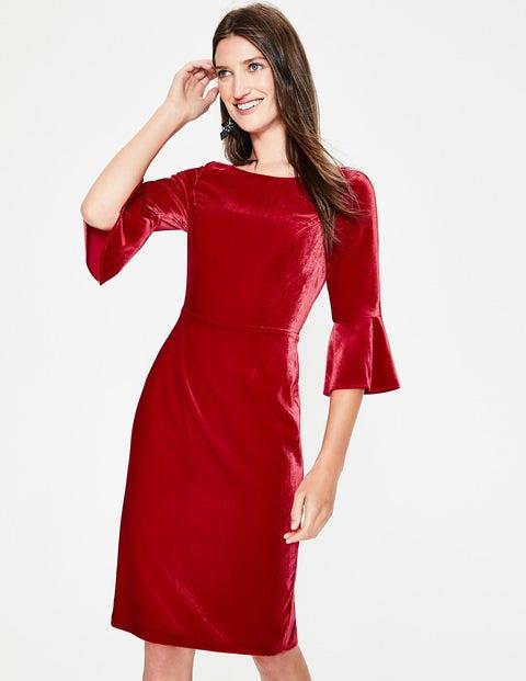 Aubrey Velvet Dress - Poinsettia