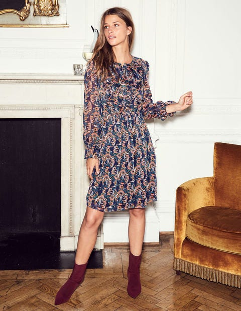 Amalie Dress - Navy, Flourish Small