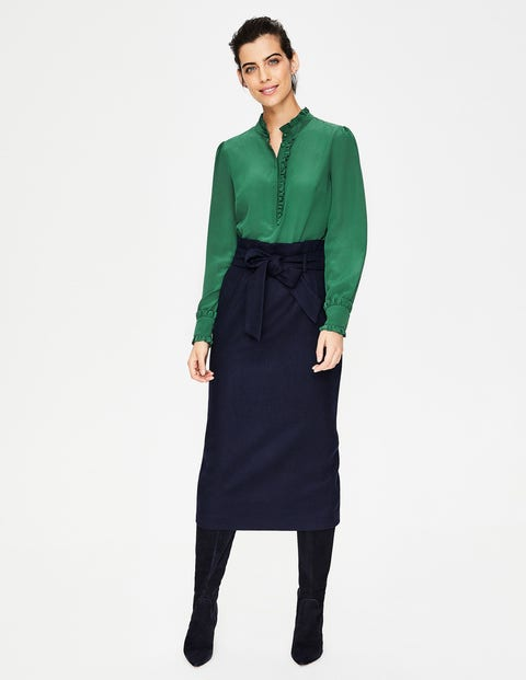 46a118fe06c12 Romaine Silk Shirt - Amazon Green