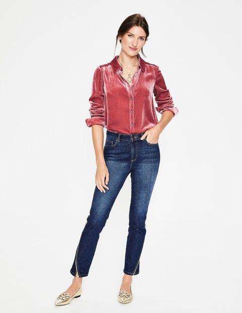 Kristen Velvet Shirt - Blush