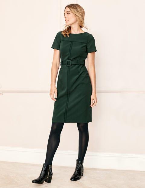 Anita Stitch Detail Dress - Chatsworth Green