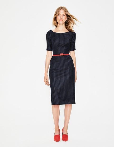 Cresswell Pinstripe Dress - Navy Pinstripe