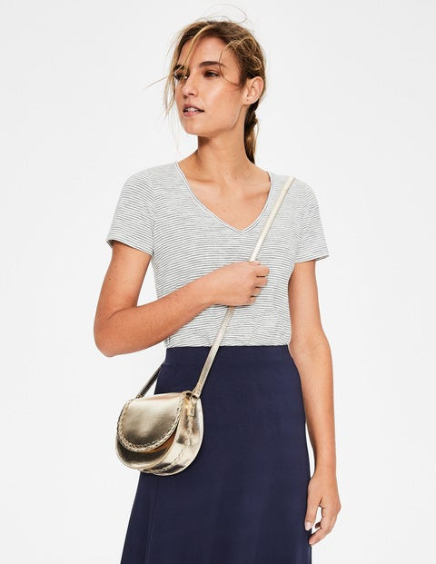 Lingfield Mini Saddle Bag - Gold Metallic