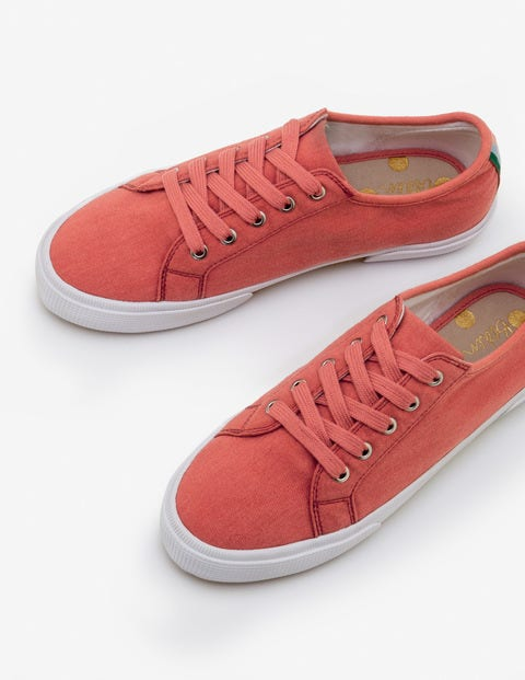 Canvas Plimsolls - Rouge