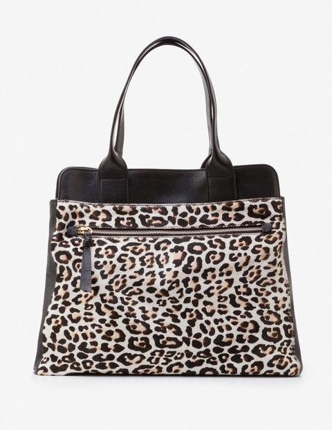 Sherborne Shopper - Naturweiß, Leopardenmuster