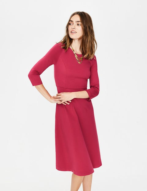 Irene Ponte Dress - Rose Bloom