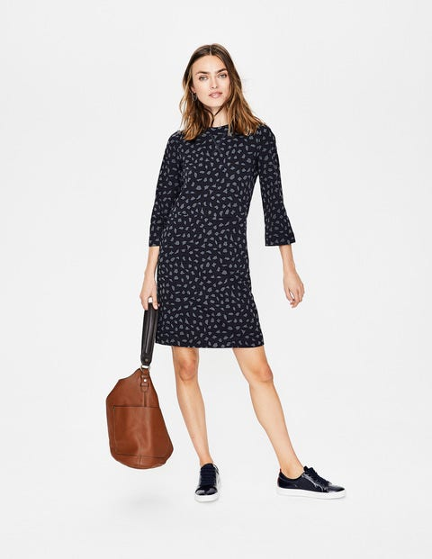 Livia Sweatshirt Dress - Whale Grey Leopard