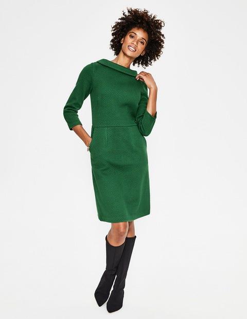 1960s Style Dresses, Clothing, Shoes UK Estella Jacquard Dress Green Women Boden Green �48.00 AT vintagedancer.com
