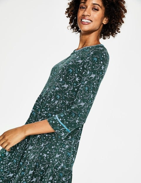 b1af2387e33 Claire Jersey Dress - Chatsworth Green Woodland