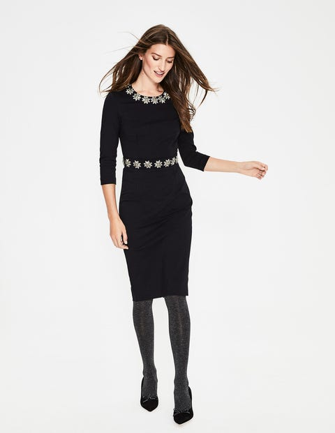 Matilda Embellished Dress - Black