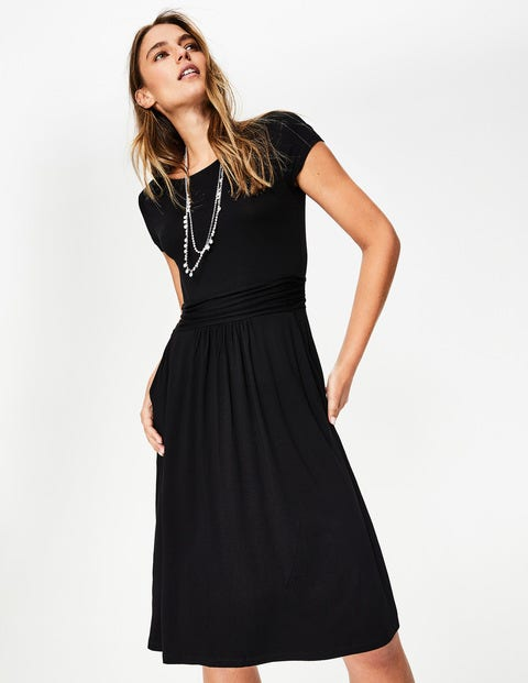 Amelie Jersey Dress - Black