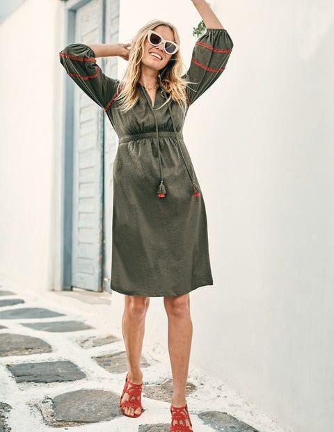 Heidi Jersey Dress - Classic Khaki