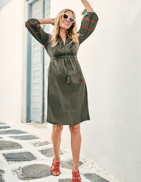 Heidi Jerseykleid - Klassisches Khaki
