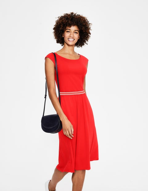 Bernice Jersey Dress - Red Pop