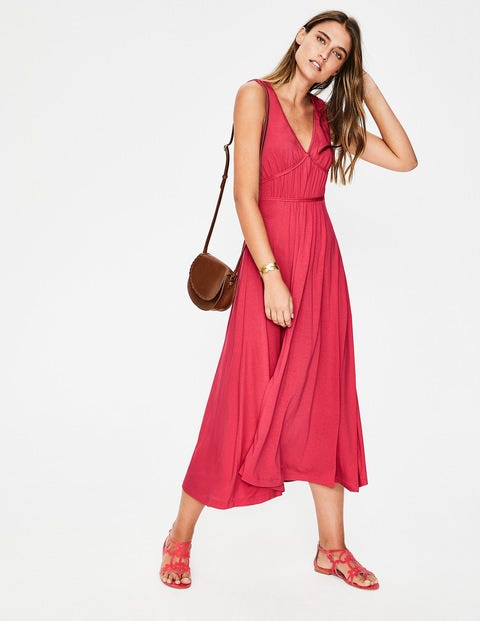 Elina Jersey Midi Dress - Sunset