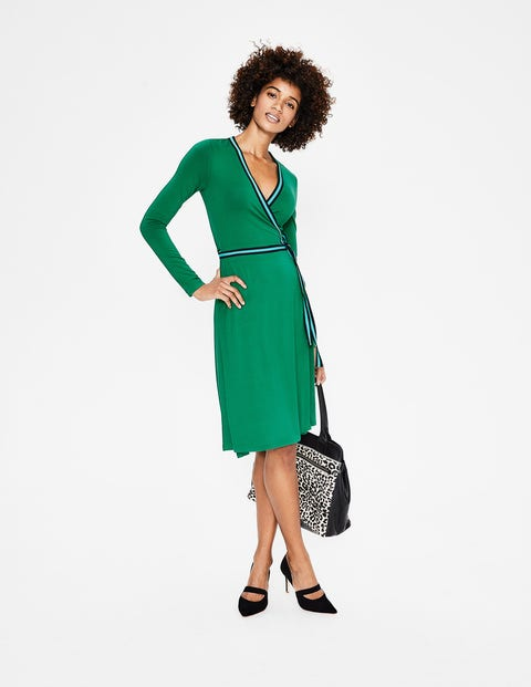 Cara Jersey Wrap Dress - Forest