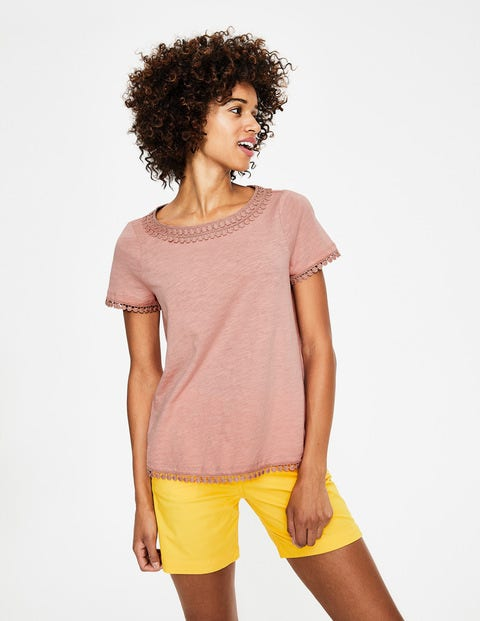 Thelma Jersey T-shirt - Chalky Pink