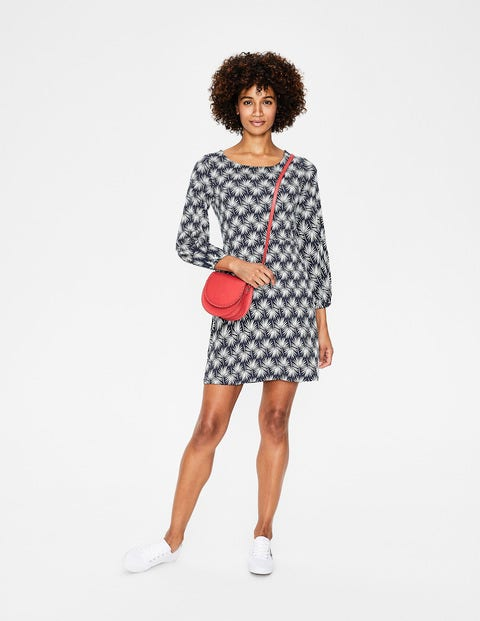 Lucie Jersey Tunic - Navy Holiday Palm