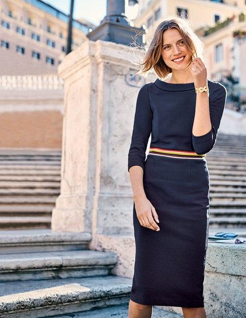 Daisy Ottoman Dress - Navy