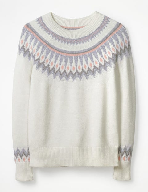 f33605d588c Agnes Fair Isle Sweater - Ivory