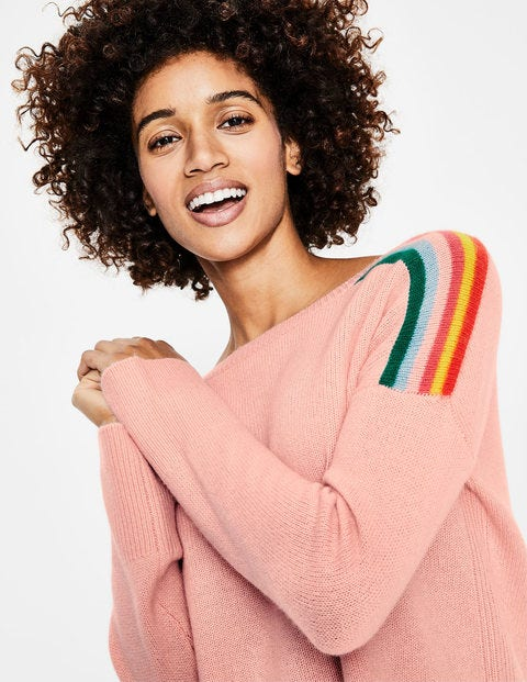 Celia Cashmere Sweater - Chalky Pink