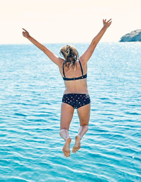 Mix & Match Bikini Shorts - Navy/Multi Spot