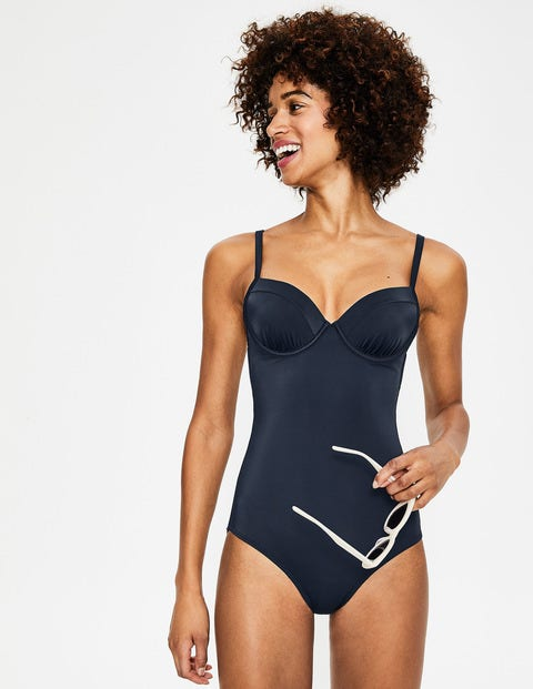 Milos Cup-Size Swimsuit - Navy Colourblock