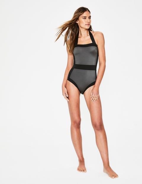 99d09e539b3 Santorini Swimsuit - Black/Shiny Titanium | Boden US