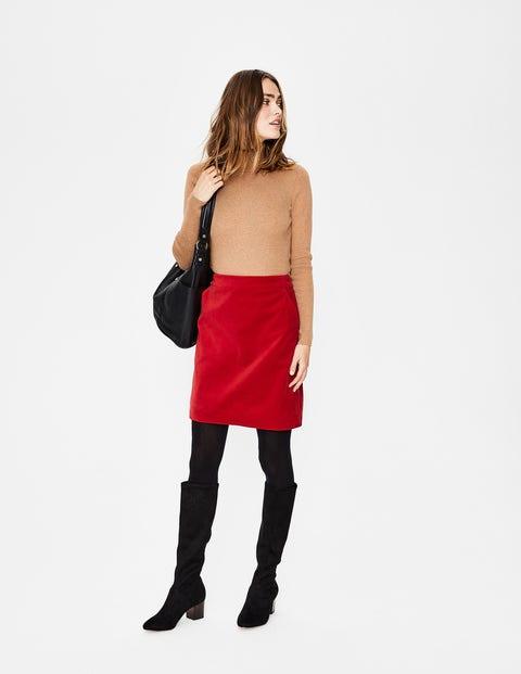 Mimi Velvet Skirt - Poinsettia