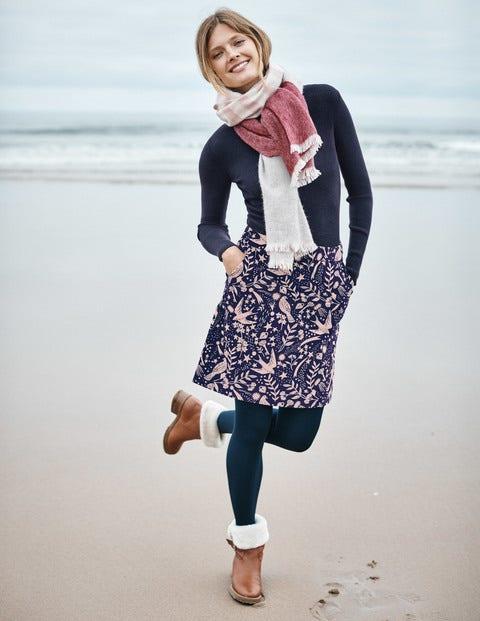 Mimi Velvet Skirt - Navy Mystic Woodland