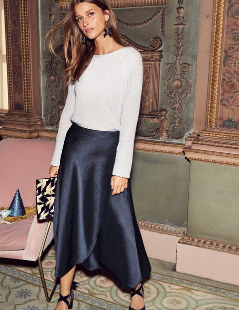 Epsom Midi Skirt - Navy