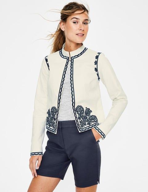 Lisbon Embroidered Jacket - Ivory